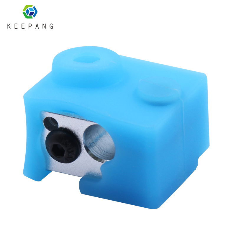 Silicone Case for E3D V6 heating block 3D Printer Parts aluminum block silicone sleeve High temperature protection cover blueSilicone Case for E3D V6 heating block 3D Printer Parts aluminum block silicone sleeve High temperature protection cover blue