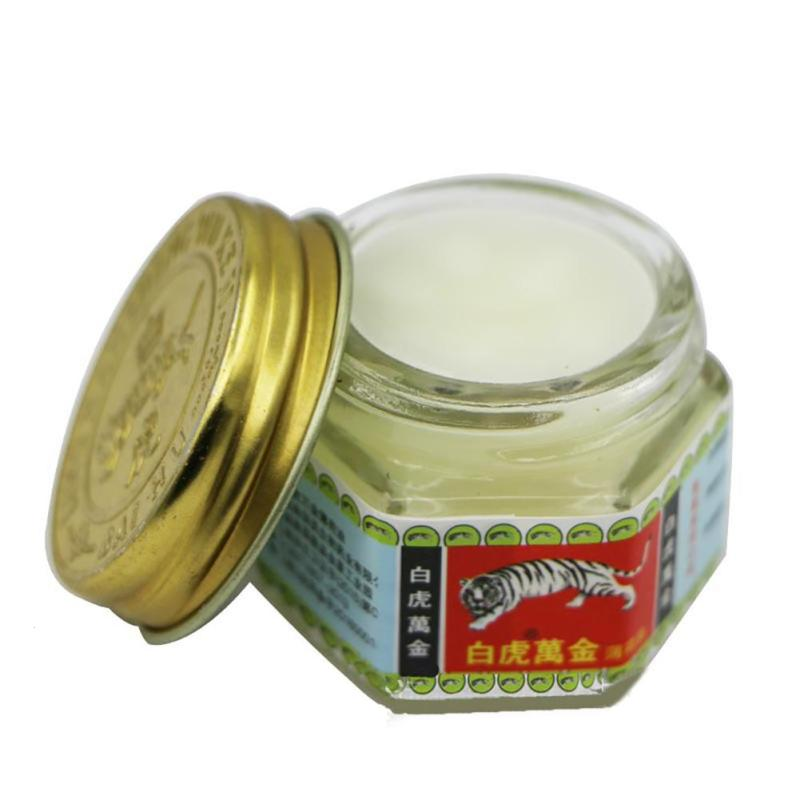 15g White Tiger Ointment Balm Arthritis Muscle Aches Pain Relieving Soothe itch Headache Massage Relaxation Mint Cream L3 1 bottle green herb balm thailand healthy anti mosquito bite skin care headache pain relief medcine l3