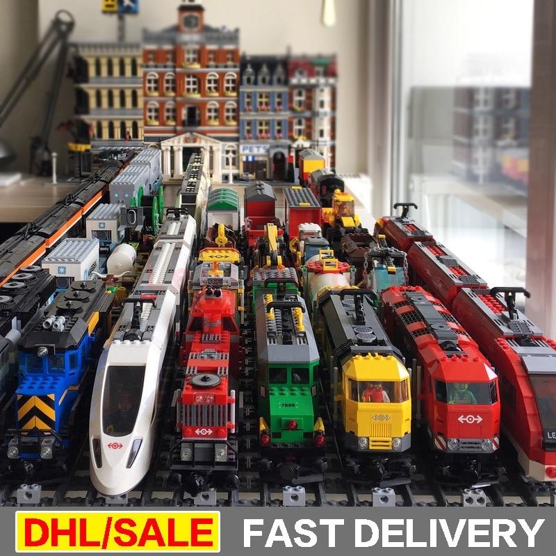 LP 02008 02010 02009 21005 21006 21007 02038 02039 02117 02118 Train Buillding Blocs Briques Clone 60052 60098 60051