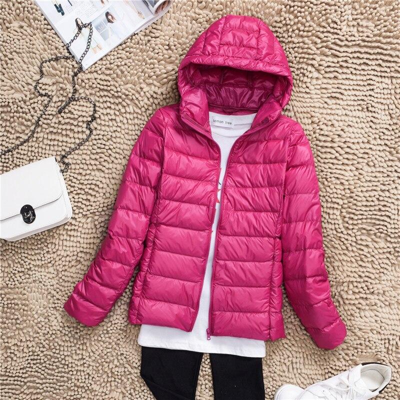 Plus Size S-7XL 90% White Duck Down Jacket Women Winter Women's Overcoat Female Ultra Light Autumn Hooded Down Coat Jackets 2018 4