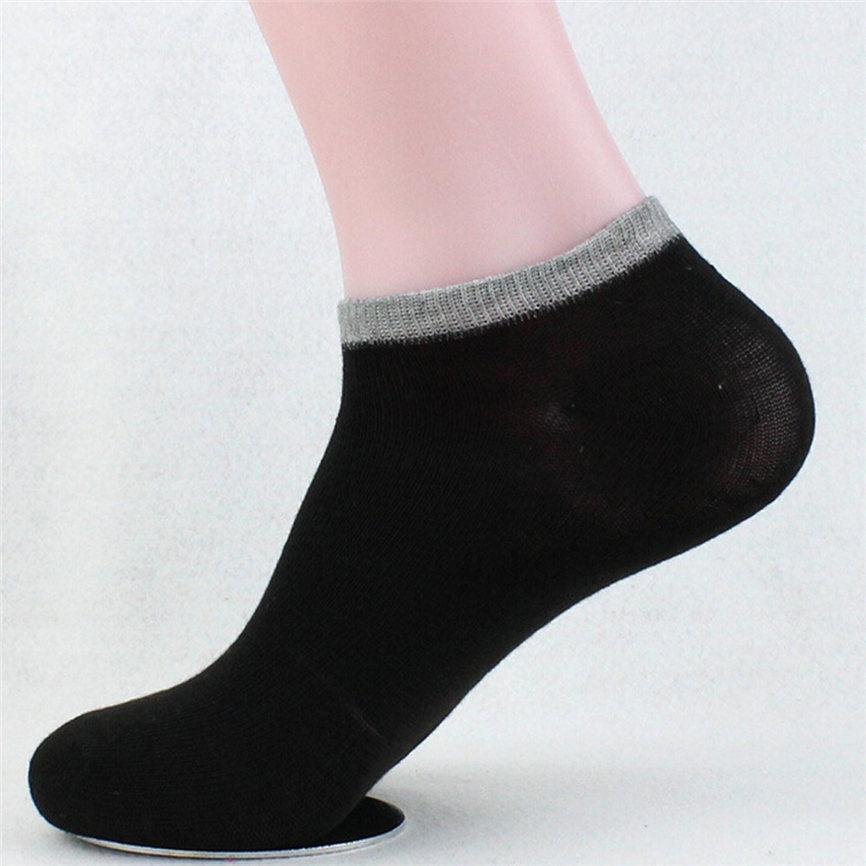 2018 New Unisex Casual Business Solid Socks Stripe Sock Women&Men Comfortable Short Ankle Socks Boat Socks Dropshipping 0223