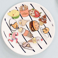 1 PCS Delicious Food Shaped Badges Series 2 Cartoon Food Icons Acrylic Pin Badge Backpack Decoration Pins