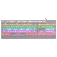 HOT Sunrose T660 Usb Suspension Cap English Mechanical Keyboard Wired Keyboard Backlight Splashproof 104 Keys Gaming Keyboard