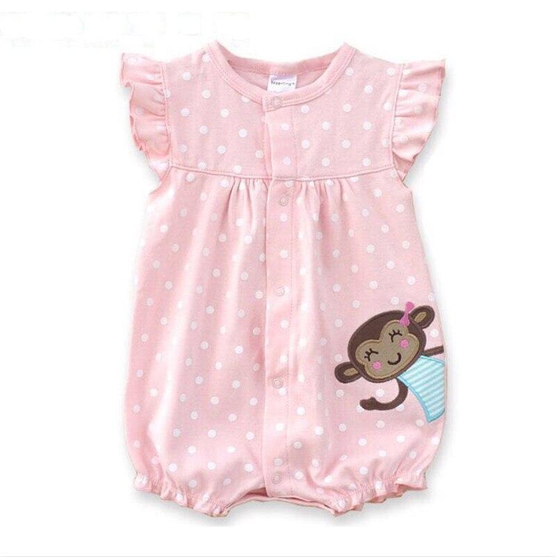 Cotton Baby Rompers Summer Baby Girl Clothes Cartoon Noworodek - Odzież dla niemowląt - Zdjęcie 4