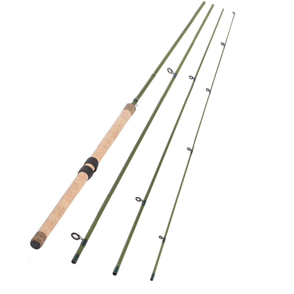 13FT 4 PIECES CARBON FIBER SECTIONS CENTERPIN FLOAT FISHING ROD WOODEN HANDLE STEELHEAD FISHING LIGHT CENTREPIN