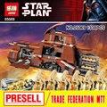 Nueva Lepin 05069 Star Wars Serie Tanque de Transporte de La Federación Establece MTT Niños Modelo de Bloques de Construcción Ladrillos Juguetes niño 7662