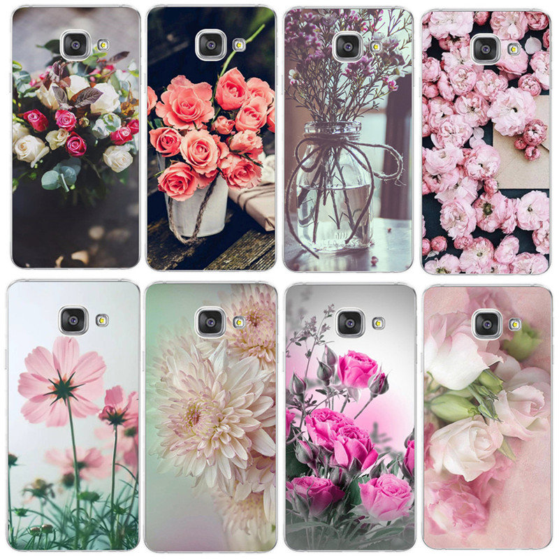 Elegant Beautiful Flowers <font><b>Phone</b></font> <font><b>Case</b></font> For Coque <font><b>Samsung</b></font> Galaxy S6 <font><b>S7</b></font> <font><b>Edge</b></font> S8 S9 Plus A520 J4 J6 A7 A6 A8 Plus 2018 Soft TPU Cover image