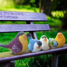 цена на High quality ceramic bird Crafts creative Furnishing Articles cute Figurines & Miniatures fairy garden ornaments home decor gift