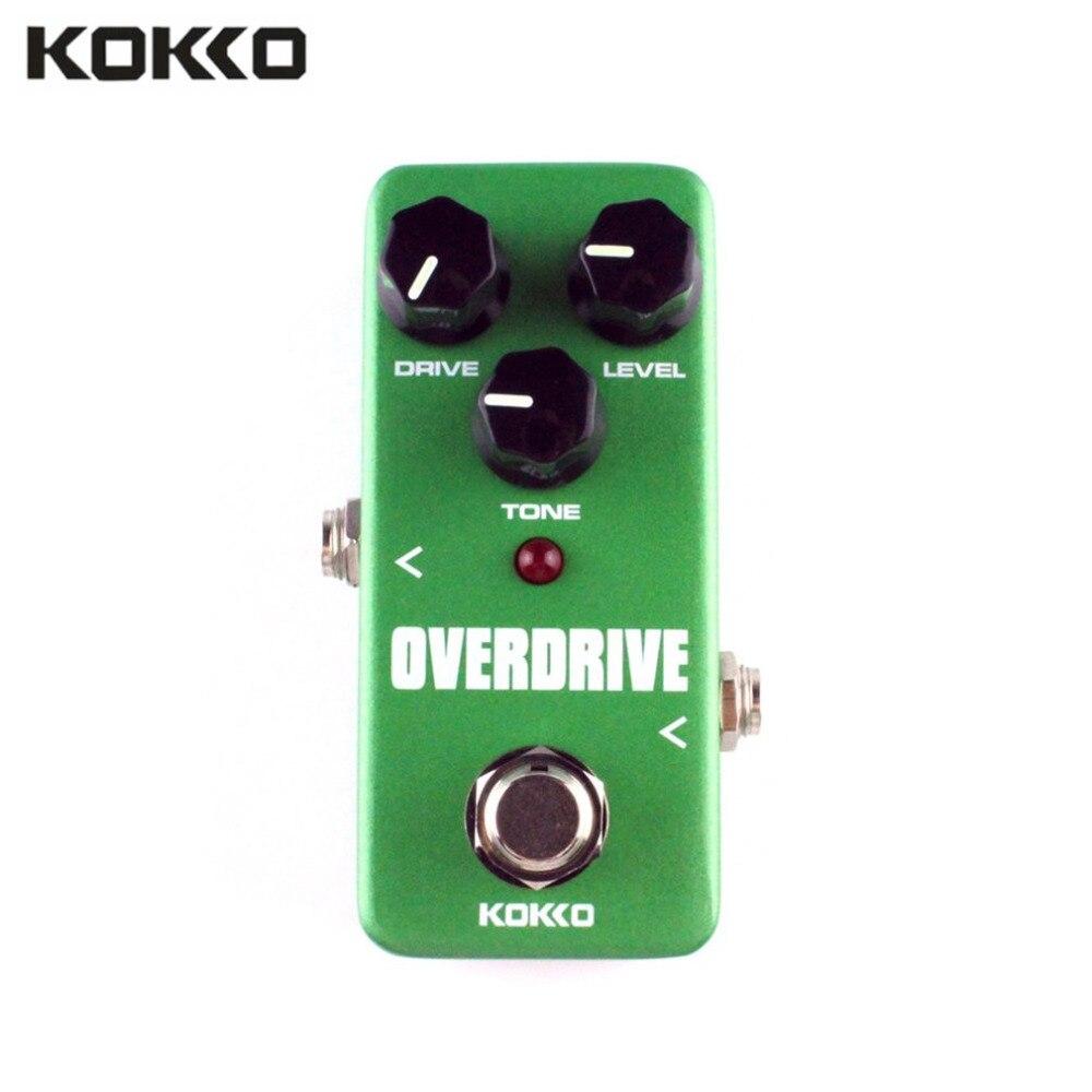 KOKKO FOD3 Mini Overdrive efecto de guitarra eléctrica Pedal True Bypass cuerpo de aluminio tubo sobrecarga guitarra Stompbox