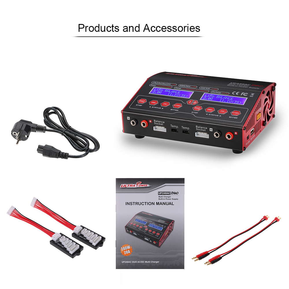 Lipo Charger RC Power UP240AC DUO 240W 2in1 LiPo NIMH NiCd Battery RC Helicopter font b