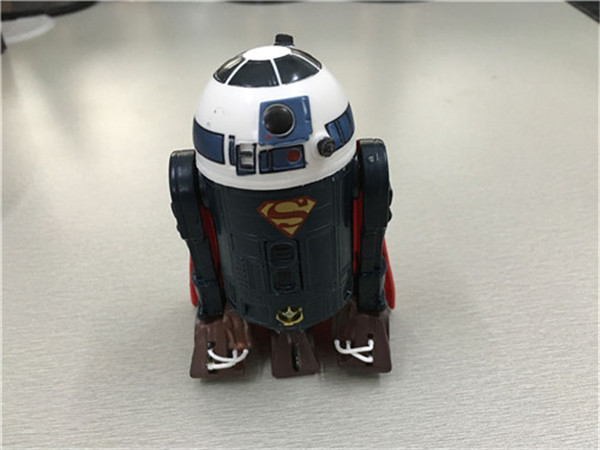 Free Shipping Cute Star Wars Robot R2D2 R2-D2 cos Superman 10cm Boxed PVC Action Figure Collection Model Doll Toy Gift