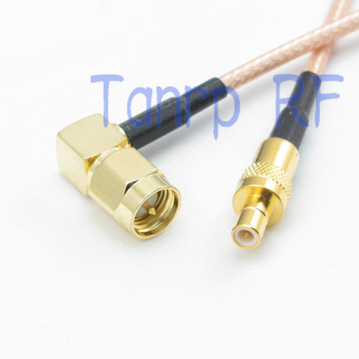 Cable RG316 6inch MMCX male plug 90° to SMA male right angle RF Pigtail Jumper