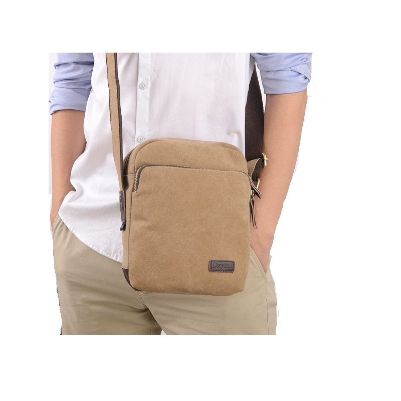 Messenger Bags Canvas Vintage Bag Shoulder Crossbody Man Brown Black Small Bag Designer Handbags Bolso