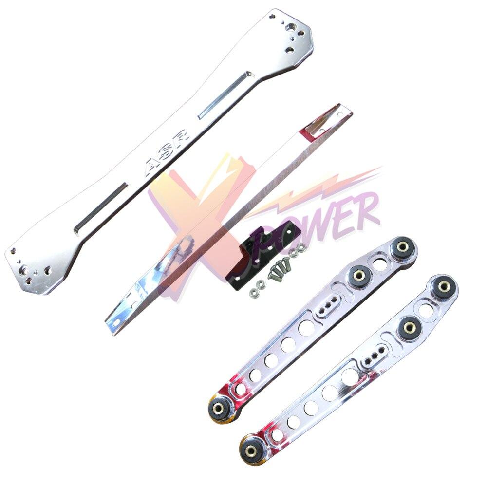 Xpower Polished Rear Lower Control Arm Subframe Brace Tie Bar For 1996 1197 1998 1999 2000 Honda Civic EK