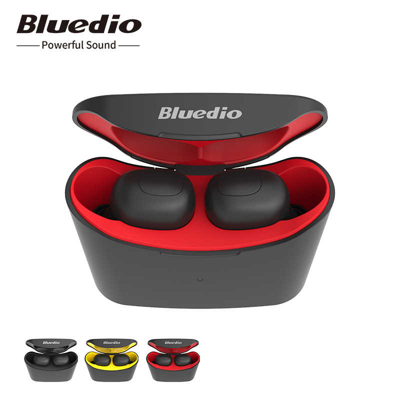Bluedio wireless bluetooth earphone for phone T-elf TWS stereo sport earbuds headset with charging box built-in microphone