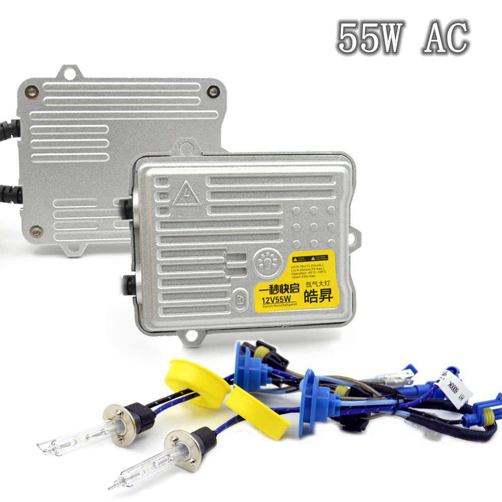 55w AC hid xenon kit xenon ballast fast start xenon bulb white color 6000k car headlight auto lamp h1 h3 h7 h11 hb3 hb4 dmex 12v 24v 35w ac fast start d2h hid kit xenon hid kit 4300k 5000k 6000k 8000k with hylux a2088 ballast