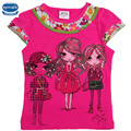 2 colors nova kids 2015 baby girl t-shirt summer fashion girl pattern girl t-shirt children wear top tee clothes nova kids wear
