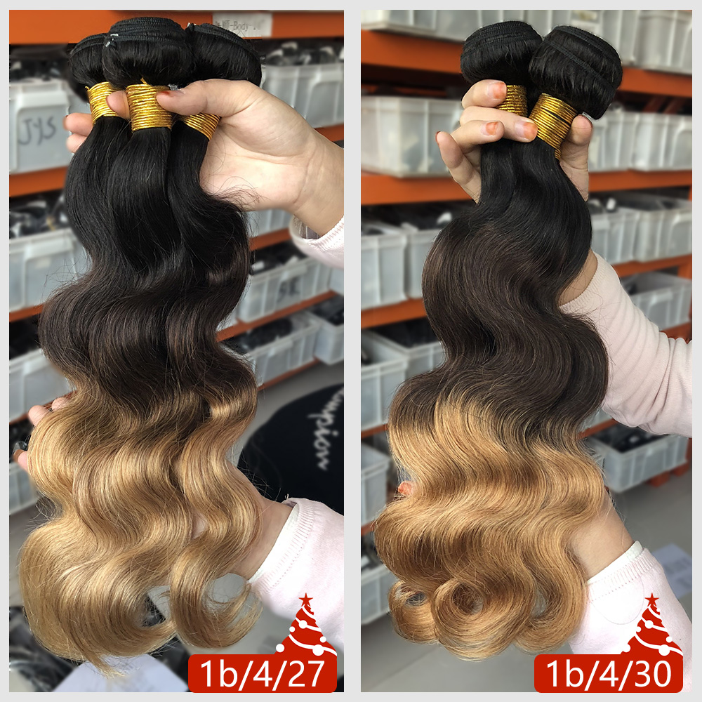 Alimice Hair Malaysian Body Wave Hair Extension Ikke-Remy Hair 100% - Menneskehår (sort) - Foto 6