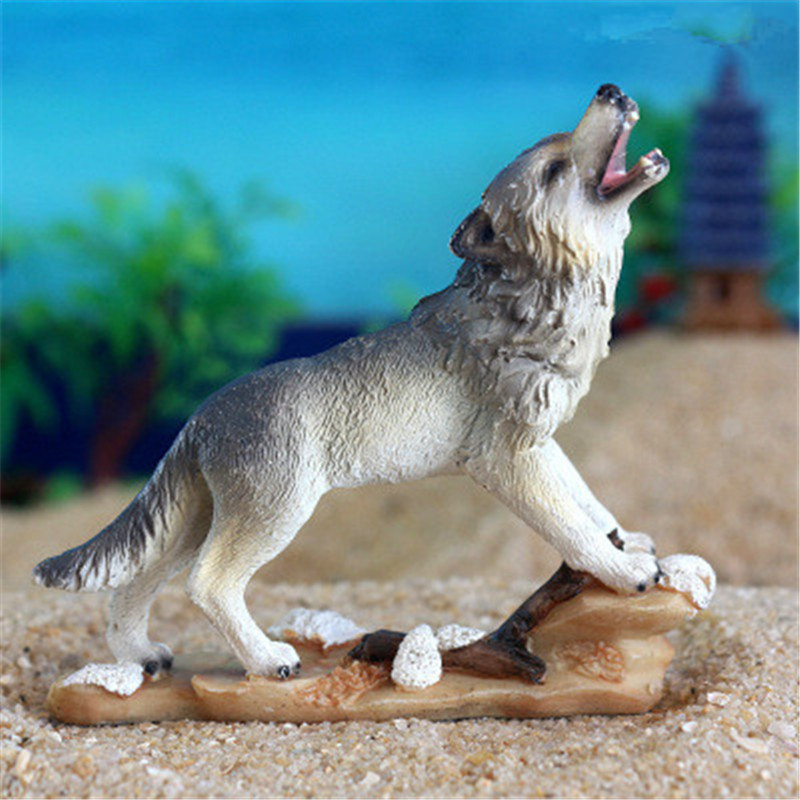 Action & Toy Figures Faithful Wholesale 200pcs/lot Canis Lupus Howl Statue Colophony Crafts Psychological Sand Table Accessories G1436