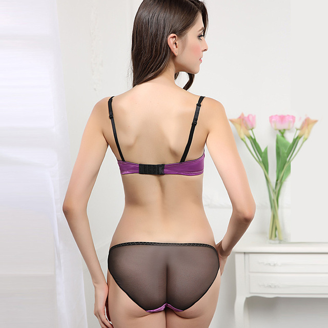 Ultrathin and transparent sexy lace embroidery underwear