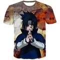 Drop Ship Classic Anime Naruto t shirts Hipster Uchiha Sasuke 3d tshirts Men Women Summer Casual tees Harajuku t shirt tops
