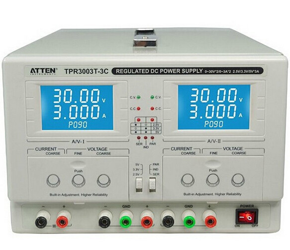 ATTEN TPR3003T-3C véritable bidirectionnelle réglable courant constant de tension constante DC alimentation alimentation de Laboratoire