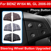 LHD RHD Car Multi function Steering Wheel Left Right Button Phone Key Control For Mercedes Benz W164 ML GL300/350/400/450 06 09