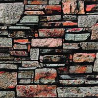 Beibehang 3D Stereo Simulation Stone Wallpaper Vintage Bricks Brick Living Room Background Wall Shop Bar KTV