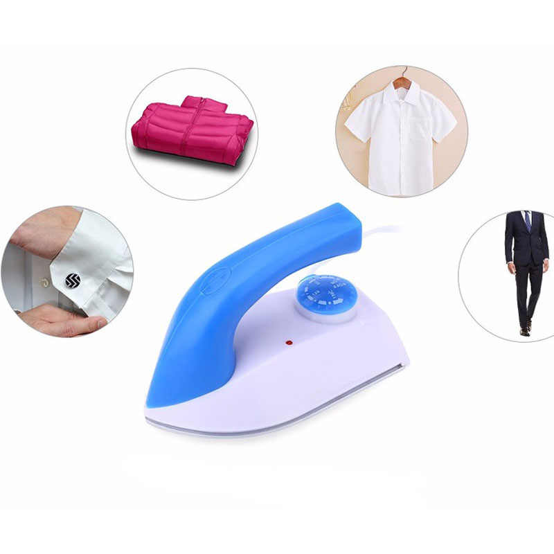 Mini Electric Iron stamp Travel Thermostat Handheld Coated Plate Steam Electric Irons Collar Cuff Automatic Temperature Setting