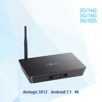 X92 Android 7 1 Smart TV Box 2GB 3GB DDR3L 16 32GB EMMC Amlogic S912 Octa