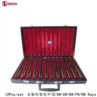 12Pcs/set Swan Harmonica 24 Hole Tremolo Harp Golden Color musical instrument with Gift Box Mouth Organ for Collect Gaita
