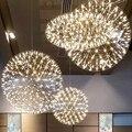 Led vuurwerk licht Rvs vuurwerk bal hanglampen Moderne Creatieve restaurant hotal verlichting villa lampen 20 cm-90 cm