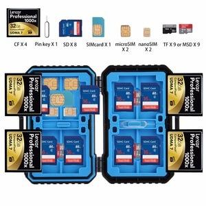 Image 3 - PULUZ Memory Card Case USB 3.0 SD CF TF Reader + OTG Fuction 9/22/27 Slots Waterproof SD CF TF SIM Cards storage Case Holder