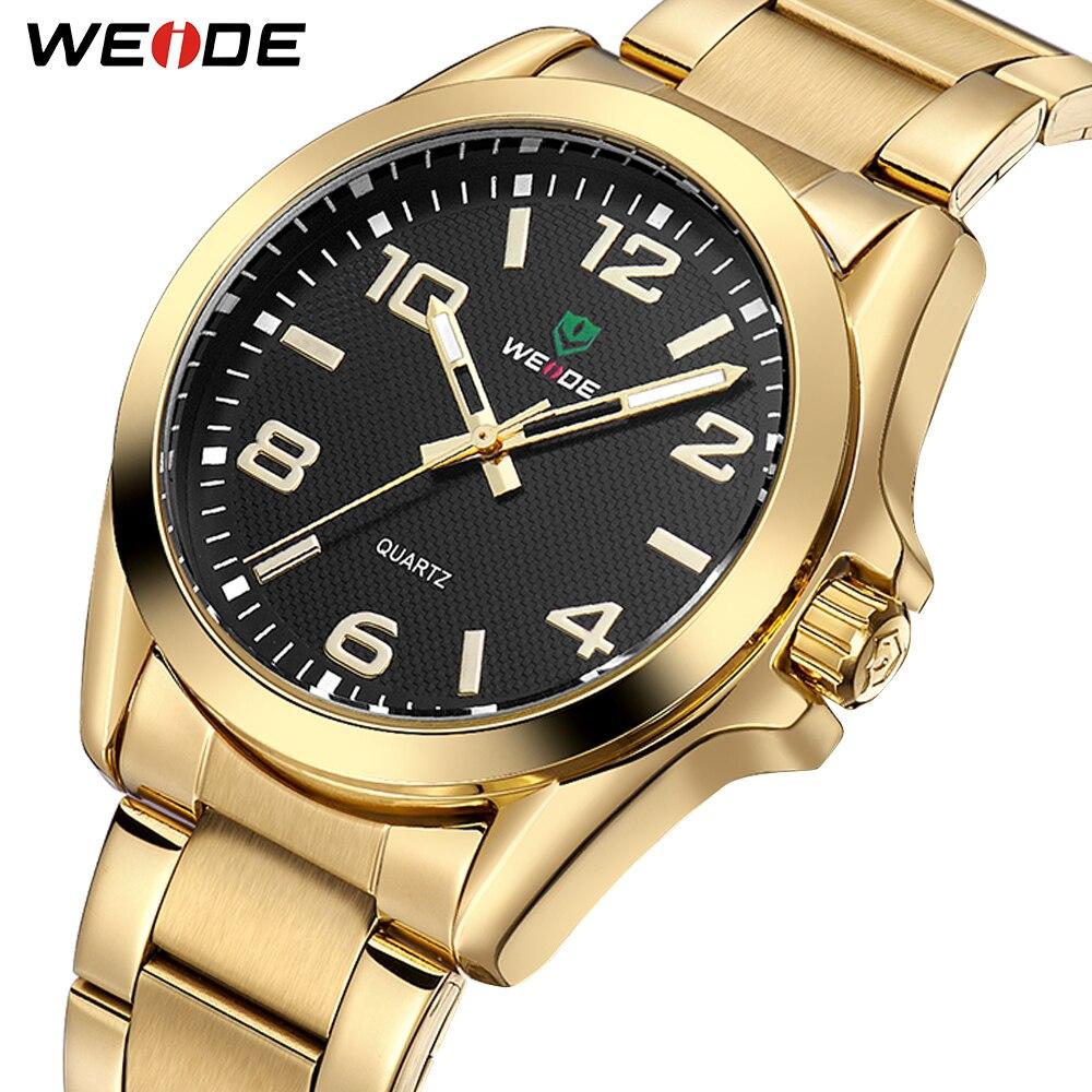 WEIDE Топ люксовый бренд мужские деловые аналоговые кварцевые часы с ремешком из нержавеющей стали наручные часы мужские часы