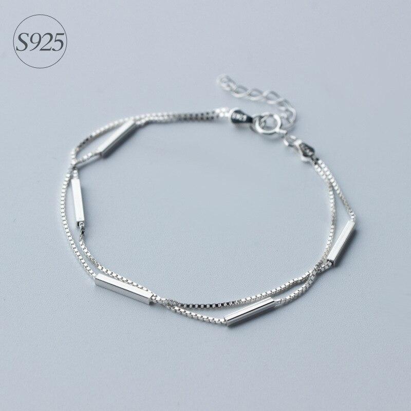 27139d0f5b45 ③Amor 925-Sterling-plata pulseras y brazaletes W cuadrado