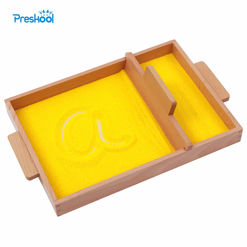 Baby Toy Montessori Sand Tray Early Childhood Education Preschool Training Learning Toys baby toy montessori baric weight tablets with box early childhood education preschool training kids brinquedos juguetes