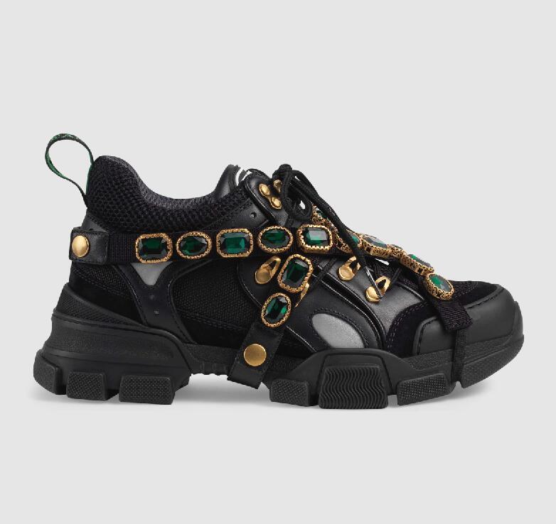Colores negro púrpura Mujer Desmontables Mixto Zapatos Estilo blanco Coreano Planos marrón Deporte Encaje Casual cristales chocolate oro verde Vaca Cuero plata De 2019ss Zapatillas Beige pwT71q8