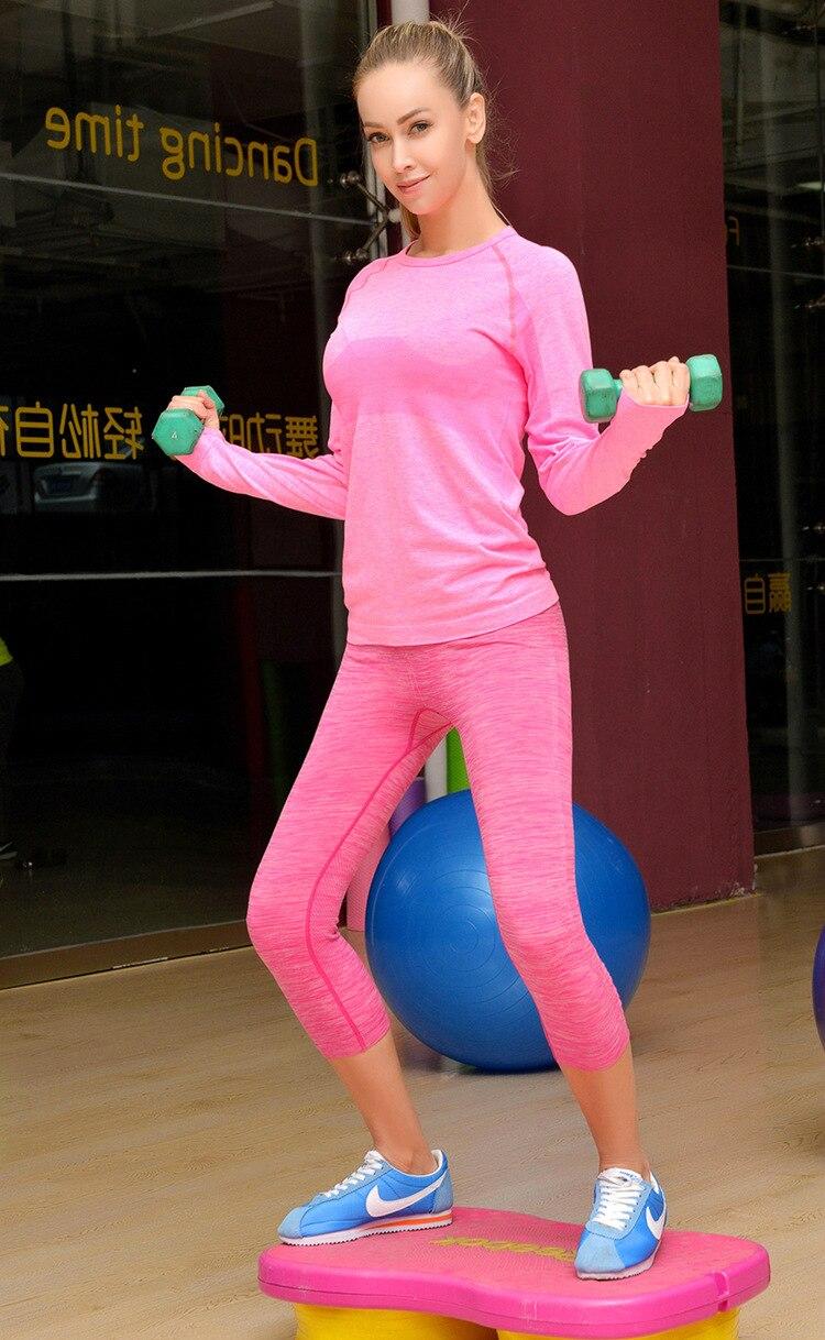Women s yoga sets sport suit workout clothes female fitness sports -  Women Yoga Sets Shirts Shorts Sport Suit For Female Fitness Clothing Women S Gym Sports Pilates