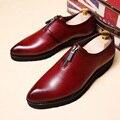 Классические Мужские Бизнес Обувь Человек Роскошный Кожаный Скольжения на Обувь мужская Плоские Оксфорды Повседневная Обувь Черные Обувь Мужской Обуви