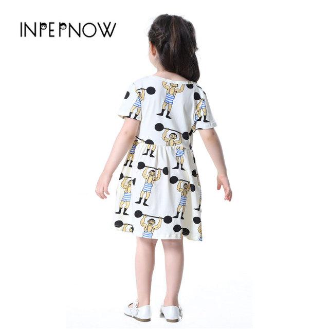Summer Girl Dress Kids Children Dress Girls Short Sleeve Dress Soft Cute Cotton Summer Princess Dresses Baby Girls LYQ-CZX54