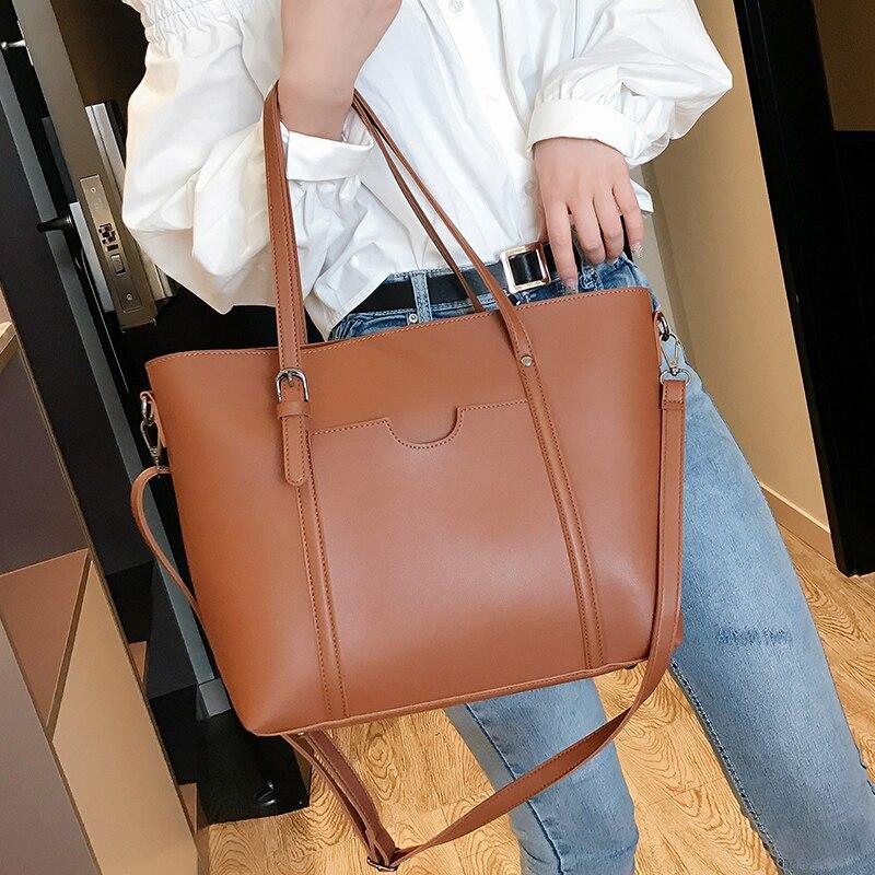 Image 4 - 2019 big Women Handbag Leather Women Shoulder Bags  Designer  Women Messenger Bags Ladies Casual Tote Bags sac a main-in Shoulder Bags from Luggage & Bags
