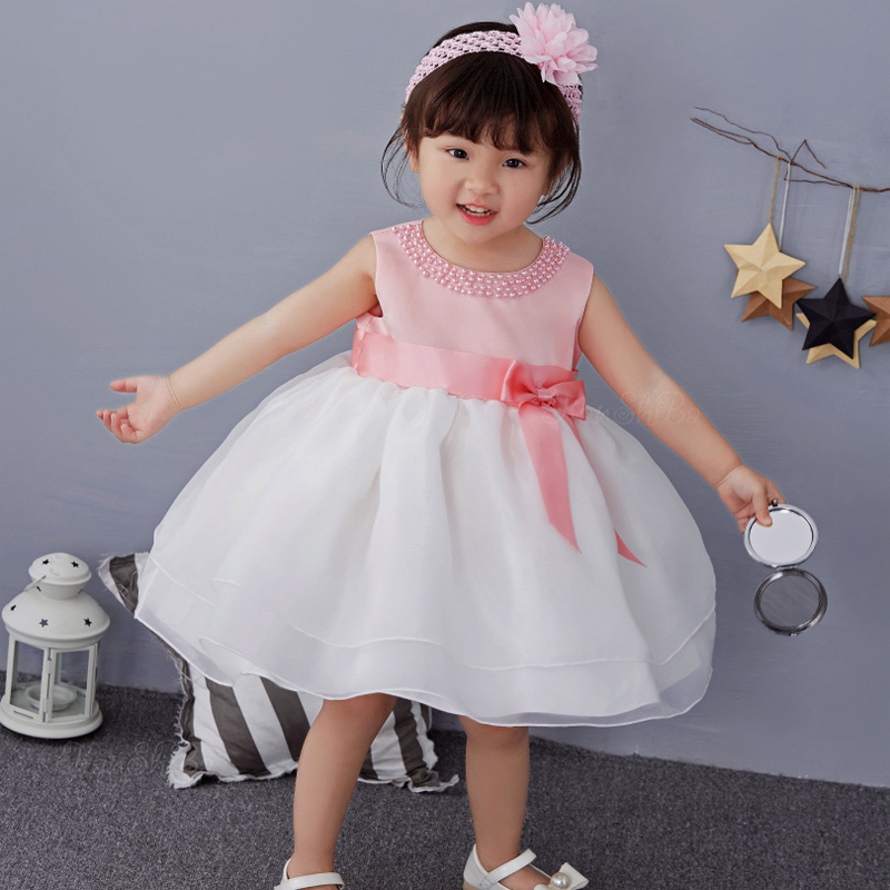 Christening Baby Party Girl Dress Wedding for Girls 1 year Birthday Newborn Kids Ball Gown Dresses Princess Infant Girl Clothes 2016 new flowers dress for girls for wedding and party summer baby clothes princess party kids dresses for girl infant costume
