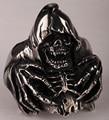Skull skeleton hand big ring for men kids stainless steel 316L biker jewelry silver tone SR24 wholesale dropshipping