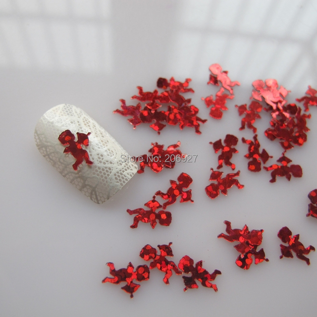 Gd9 6 20gbag Cute Laser Red Cupid Nail Art Shinny Glitter Cute