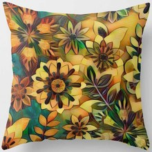 Hot sale many kinds of  flowers gray and color pattern women men Pillow case boys girls weeping pillow cover size 45*45cm