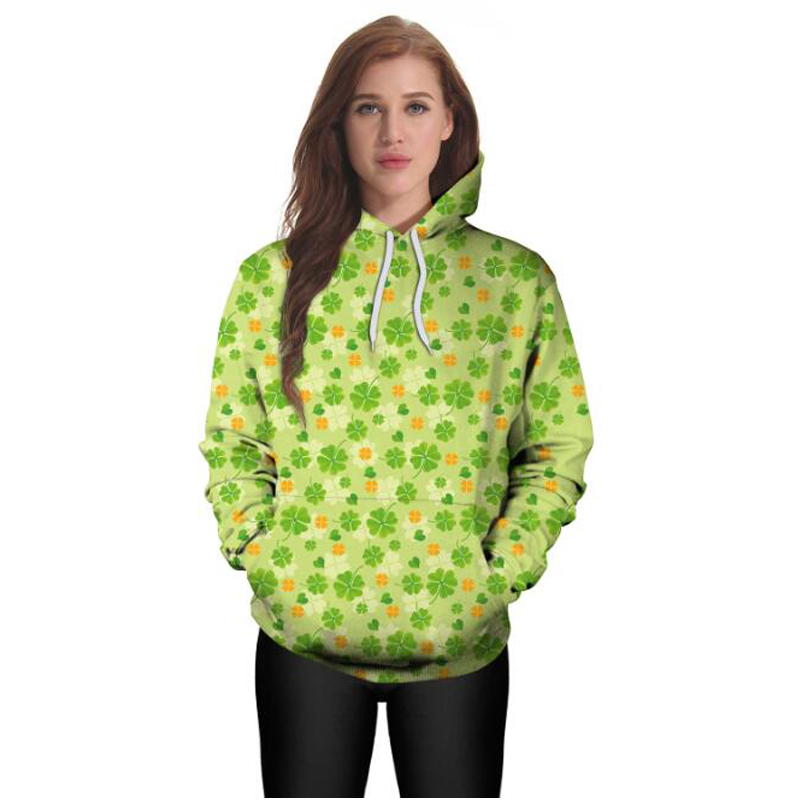 1968dbed Saint Patrick's Day Lucky Four leaf Clover 3D Print Red Lip Diamond Hoodies  Men/Women Hipster Pullover Hood Sweatshirts Jacket-in Hoodies & Sweatshirts  from ...