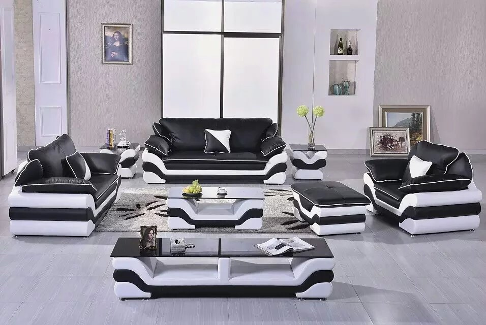 Modern Leather Sofa For Living Room With Genuine In Sofas From Furniture On Aliexpress