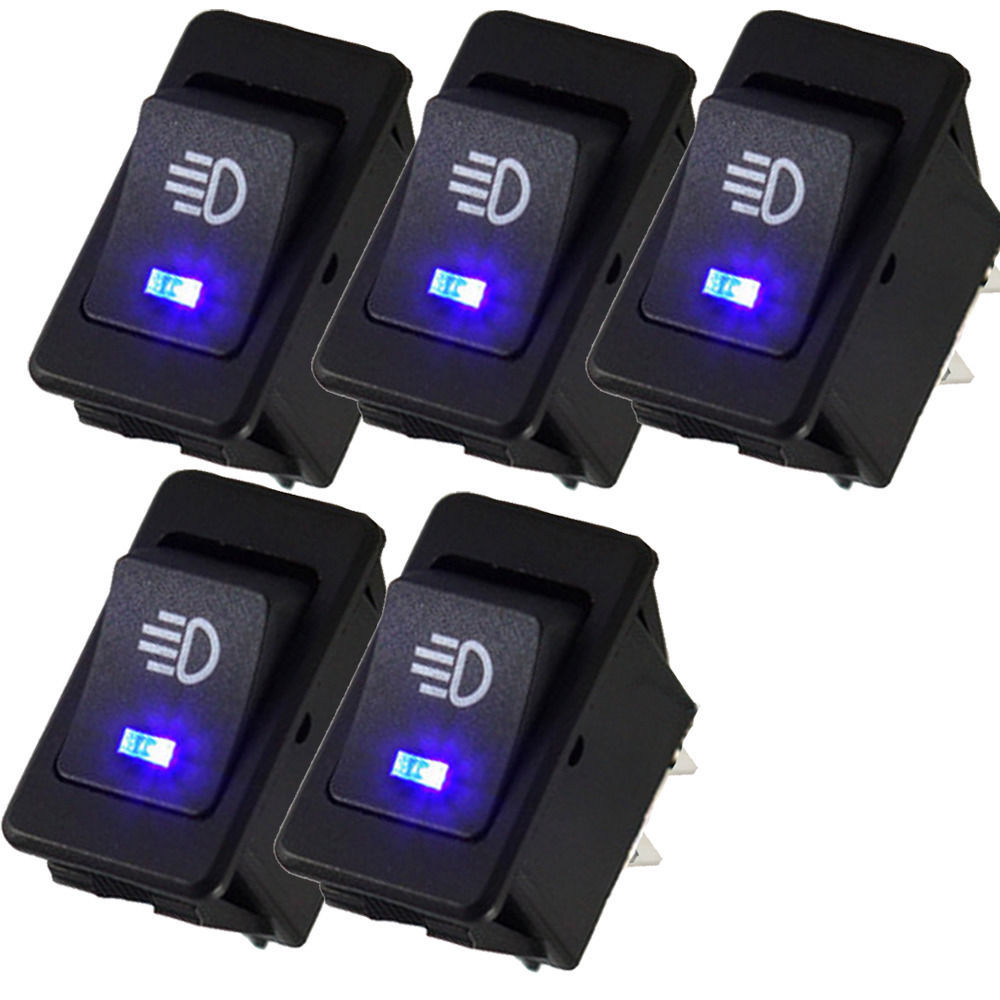small resolution of detail feedback questions about ee support 5pcs 12v 35a universal car accessories auto fog light rocker toggle switch colors led dashboard xy01 on