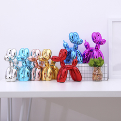 Moderno balão cães esculturas adorno casa arte resina artesanato escultura arte para estátua decoração de casa