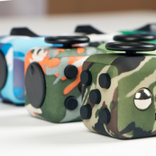 10 Colors Camouflage 3.3cm Fidget Cube Anxiety Stress Relief Focus Toys Gift Camouflage Army Puzzle Cube relieves stress anti